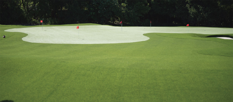 Putting Greens with  Bunkers and Custom Undulations